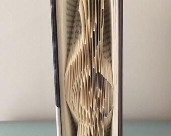 Folded Book Art - Treble Clef - Music - Hardcover book