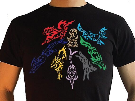 pokemon eevee evolutions tribal style t shirt jolteon vaporeon