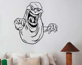 Ghostbusters Slimer Sticker Vinyl Decal Movie Wall Art Decorations for Home Housewares Teen Kids Living Room Bedroom Decor Ideas ghs6