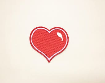 Heart patch - love patch, iron on patch heart, sew on patch, embroidered patch