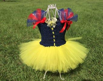 Snow White Tutu Dress, Snow White Costume, Snow White