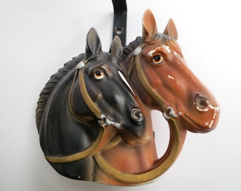 Horse Head Light Fixture Vintage Ucagco Two Horse Head Sconce