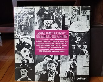 Music From Films of Charlie Chaplin Silent Films 1930s Modern Times City Lights etc Record Vinyl LP Music