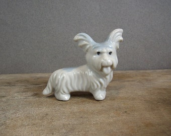 Vintage Ceramic Dog Figurine, Papillon, Made in Japan