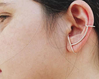 ear climber earrings, Ear Climber, Ear Cuff ,Minimalist Ear Climbers, Simple Ear Cuff, Ear Crawlers, minimalist earring, hipster earrings