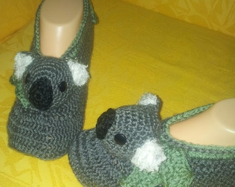 Koala Slippers crochet pattern in English only