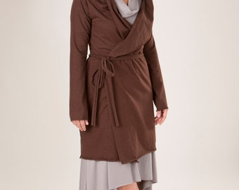 Hemp Hooded Wrap Coat - Several Colors to Choose From