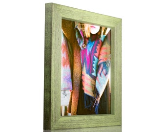 """Craig Frames, 5x7 Inch Emerald Green Picture Frame, Gesso 1.25"""" Wide (779007030507)"""