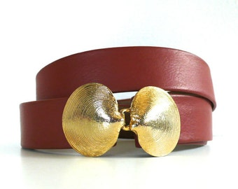 Vintage Mimi Di N // Gold Seashells Belt 1975
