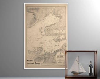 Loch Kishon, Plockton | Old Map of Plockton – Print – Loch Carron, Kishon (Kishon Loch), Kishorn, Plockton Highlands of Scotland