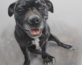 Custom Pet Portrait, favorite animals, original watercolor portrait pets to order