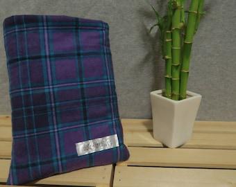 Purple Flannel Book Sleeve