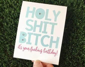 Rude Birthday Card / Funny Birthday Card Friend / Birthday card best friend / Sarcastic Birthday Card / Cheeky Birthday Card / BFF bday card