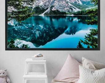 Mountain Print Printable Wall Art Lake House Decor Office Decor Fine Art Photography Landscape Photography Minimalist Poster Forest Print