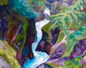 The Sculpting Stream - Original Oil Painting on Canvas