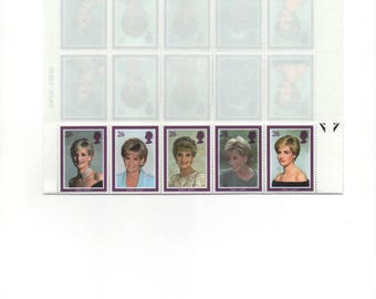 Princess Diana Memorial Postage Stamp Issue, Great Britain Scotts 1791-1795