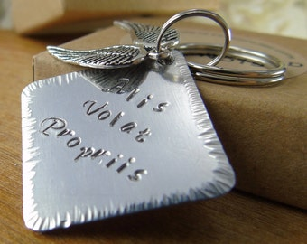 Key Ring Alis Volat Propriis She Flies By Her Own Wings For Her Inspirational Quote Daughter Gift