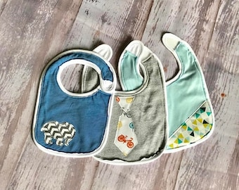 15% off All Bibs Baby Bib - Up cycled materials