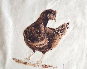 Hen Chicken - Cotton Tote Shopping Bag