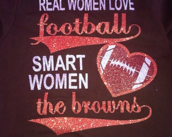 Real Women Love Football sparkly T-shirt