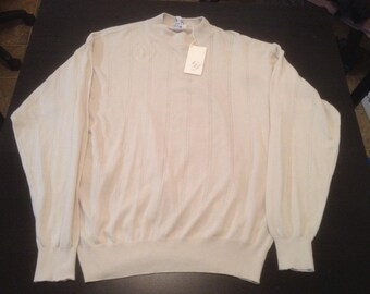 Vintage 90s CUZZENS italian crewneck sweater size XL made in italy sold out MSRP 375