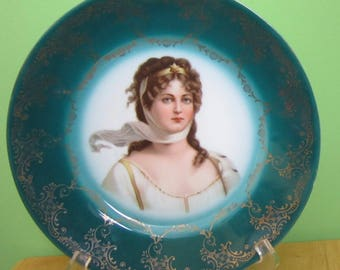 Royal Vienna Austria Portrait Plate Queen Louise Of Prussia - Beehive Mark - Free Shipping