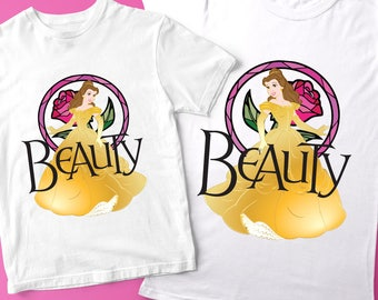 Beauty and the Beast, Belle shirt, Princess Belle, Mommy and me shirts,  Mom Daughter gift, Mom daughter shirts, Family matching