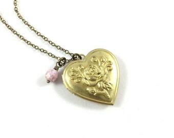 Gold Heart Necklace, Locket Gold Photo Locket, Heart Locket Gold, Valentine Jewelry, Keepsake Jewelry, Memorial Jewelry, In Memory Of Gifts