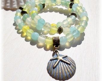 Aquamarine Gemstone Wrap Bracelet
