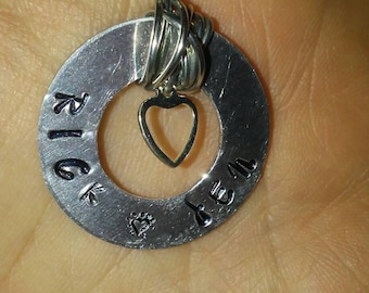 Made to order necklace, hand stamped with your personalization.