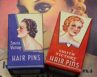 1 Box Vintage Hair Pins