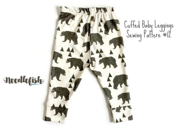BABY LEGGINGS w/ CUFFS Sewing Pattern Cuffed Baby Leggings