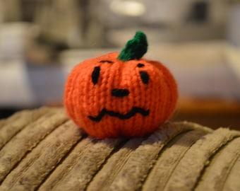 Set of 4 Hand Knitted Pumpkin, Knitted Pumpkin, Halloween Pumpkin, Hand Knitted Halloween