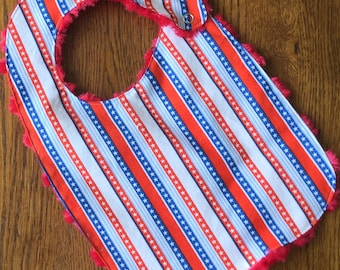 Fourth of July Stars and Stripes Bib Baby/Toddler