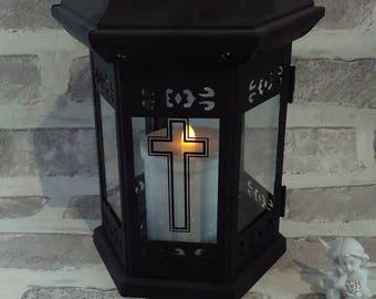 memorial candle holder,metal memorial lantern,grave lantern, grave candle holder, Memorial Graveside Vigil, Candle Holder,Lantern