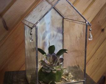 Rainy Day Glass House Terrarium