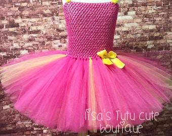 Pink and yellow tutu, pink and yellow birthday, pink lemonade party, pink lemonade tutu, smash cake tutu, pink tutu, pink birthday tutu