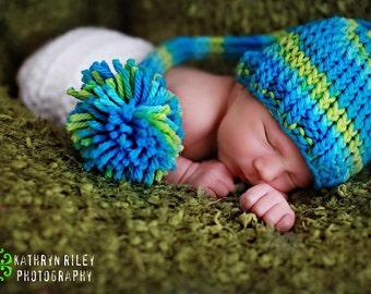 Download PDF knitting pattern k-07 - Knit Newborn Pixie hat