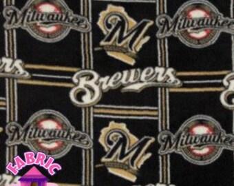 114226138-  Major League Baseball Milwaukee Brewers Fabric By The Yard