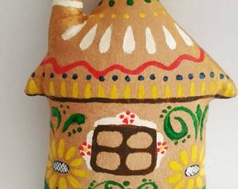 Coffee toy-Staffed toy-Handmade Toy-Miniature Toy-Gift-Christmas decoration-Ethnic ornament-Kids toys-Сotton,holofiber-Hand painting