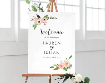 Printable Wedding Signs Welcome - Welcome Sign - Wedding Signage - Welcome Sign Wedding - Welcome Sign for Wedding PDF - (Item code: P014)