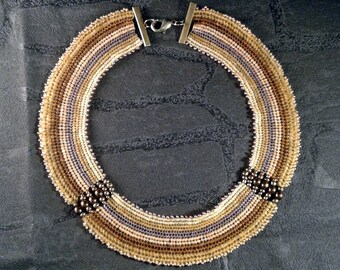 Necklace ethnic woven collar necklace women collar necklace bib necklace beaded necklace MULTISTRAND