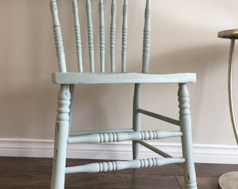 Vintage Retro Solid Wood Chair *sold*