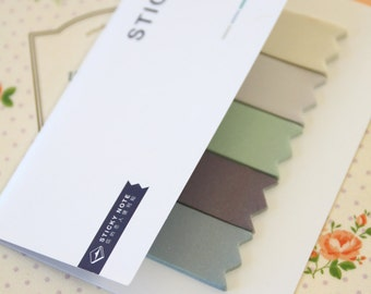 08 Grey Beige Four Season Colours deco sticky notes tabs