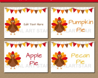Thanksgiving Place Cards, Thanksgiving Labels, Thanksgiving Buffet Cards, Thanksgiving Decor, PRINTABLE Thanksgiving Name Cards Name Tags T2