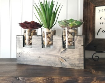 Farmhouse Decor, Artificial Succulent Planter, Succulent Centerpiece, Farmhouse Table, Country Decor, Succulent Gifts, Office Decor