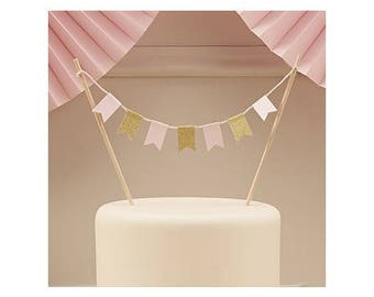 Mini Garland cake flags