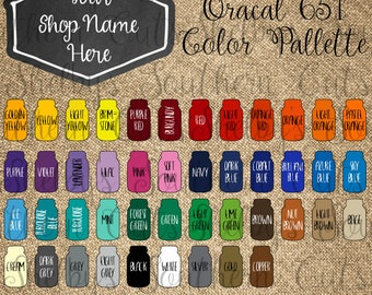 Oracal 651 Color Chart - Customizable