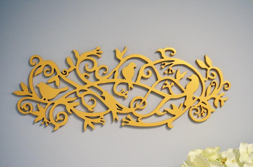 Sale Modern 3D Wall Art Decorative Wood Birds Wood Branch