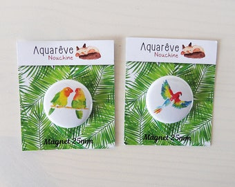 Pair of Magnets 25mm  - Lovebirds &Parrot